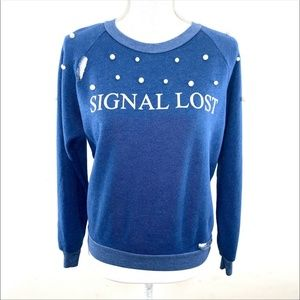 WILDFOX SIGNAL LOST SWEATER ONE OF A KIND SWEATER